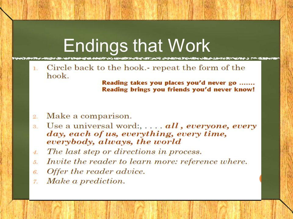 Endings that Work