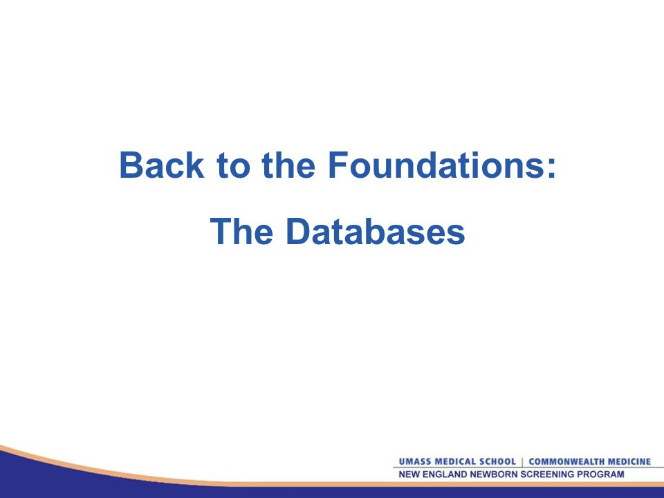Back to the Foundations: The Databases