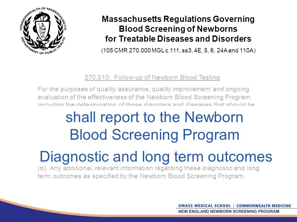 Parent Notification of NBS Quality Assurance and Improvements in Massachusetts