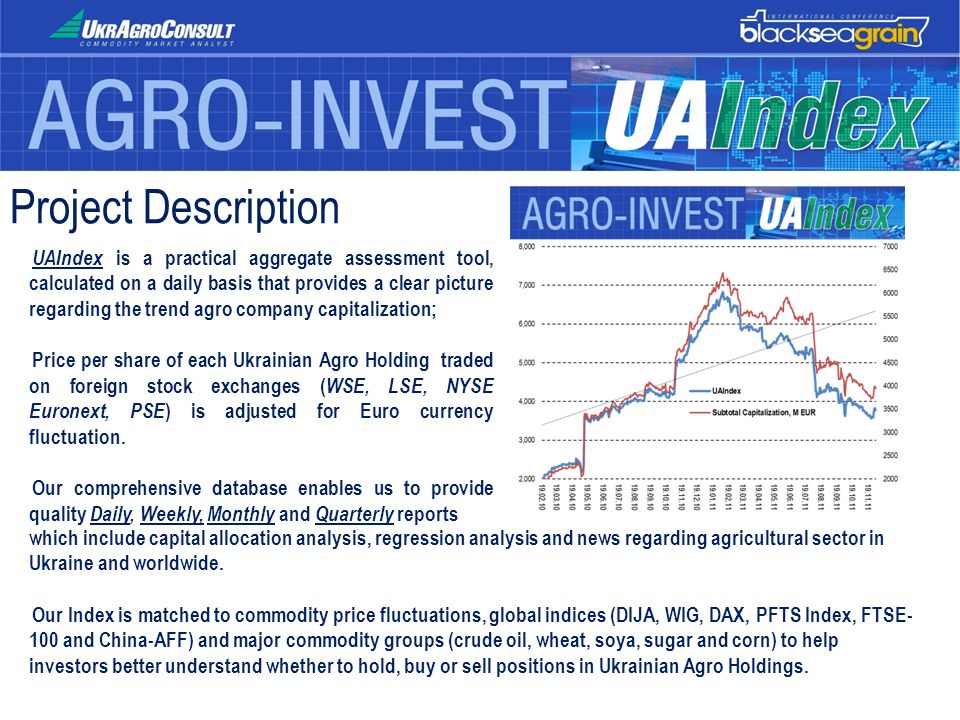 Project Description UAIndex is a practical aggregate assessment tool, calculated on a daily basis that provides a clear picture regarding the trend ag