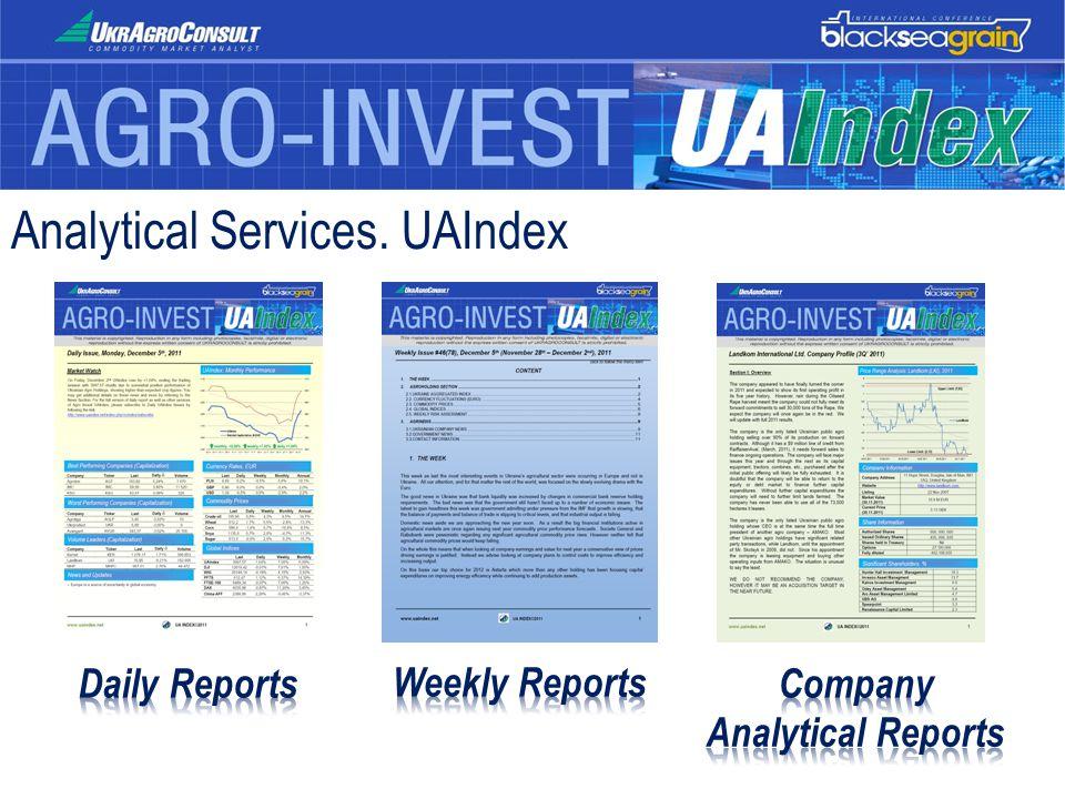 Analytical Services. UAIndex