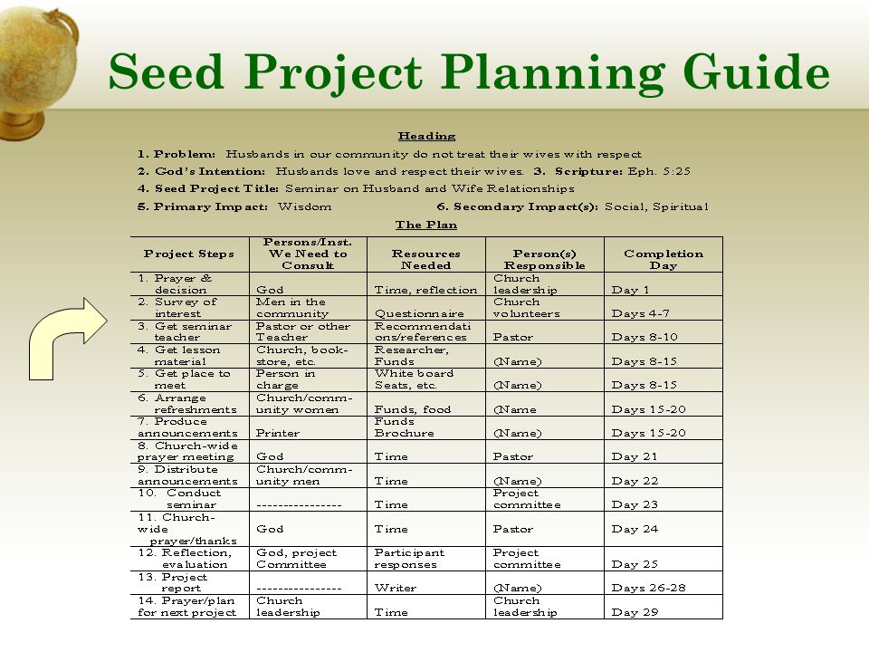 Seed Project Planning Guide