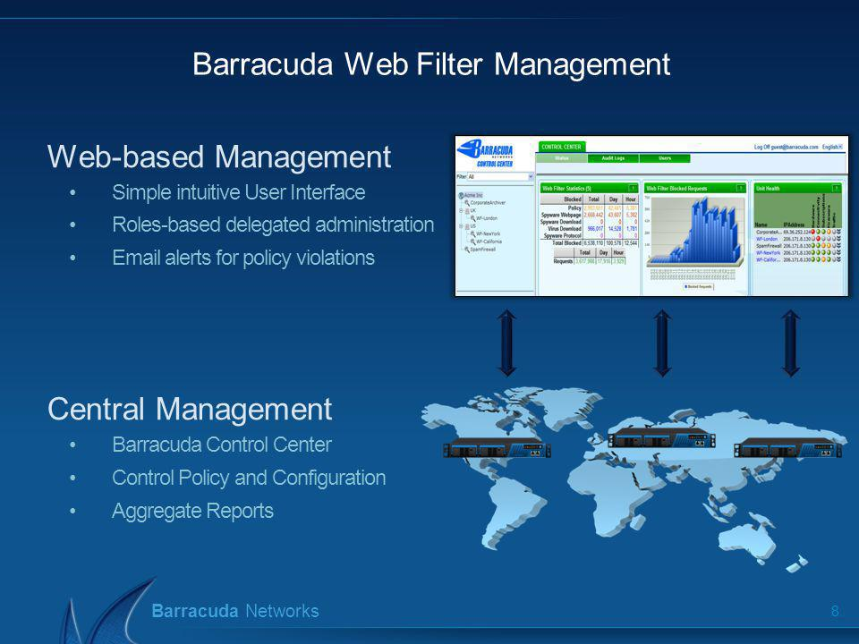Barracuda Networks Barracuda Threat Intelligence 9 Diverse Data 150,000+ customers in 80+ countries Customers, Honeypots, Web Trends Across all Security aspects Email Security, Web Security, Web Application Security, Perimeter Security, Network Access Control Fast Threat Response More Customers