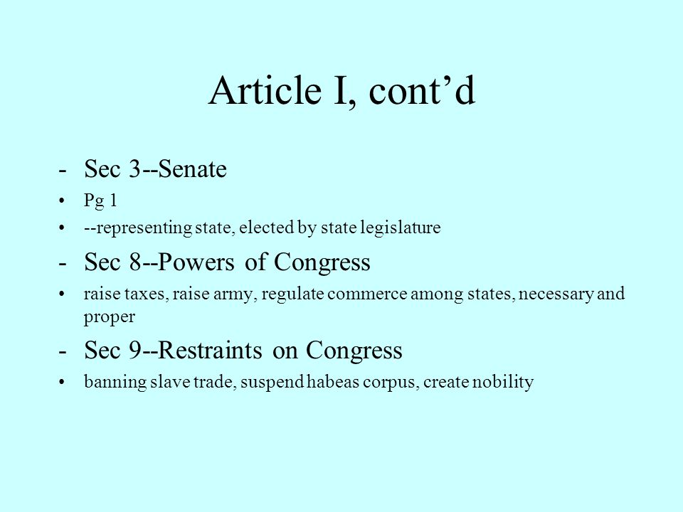 "Review of U.S. Constitution (1789) Preamble -""People"" not ""States"" Article 1 (Article, Section, Clause) Congress -Sec 2--House of Representatives Pg 3"