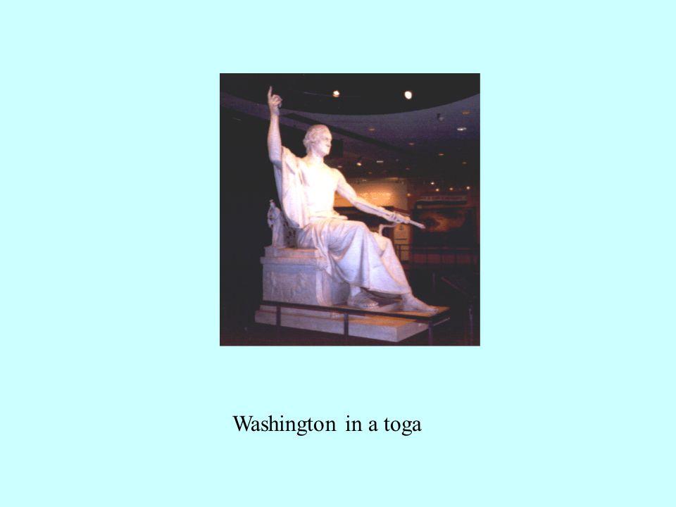 Washington in a toga