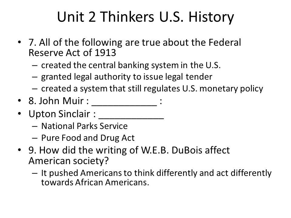Unit 2 Thinkers U.S.History 10. The activism of Susan B.