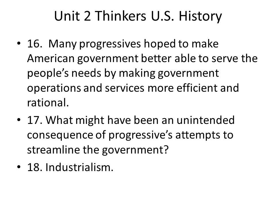 Unit 2 Thinkers U.S.