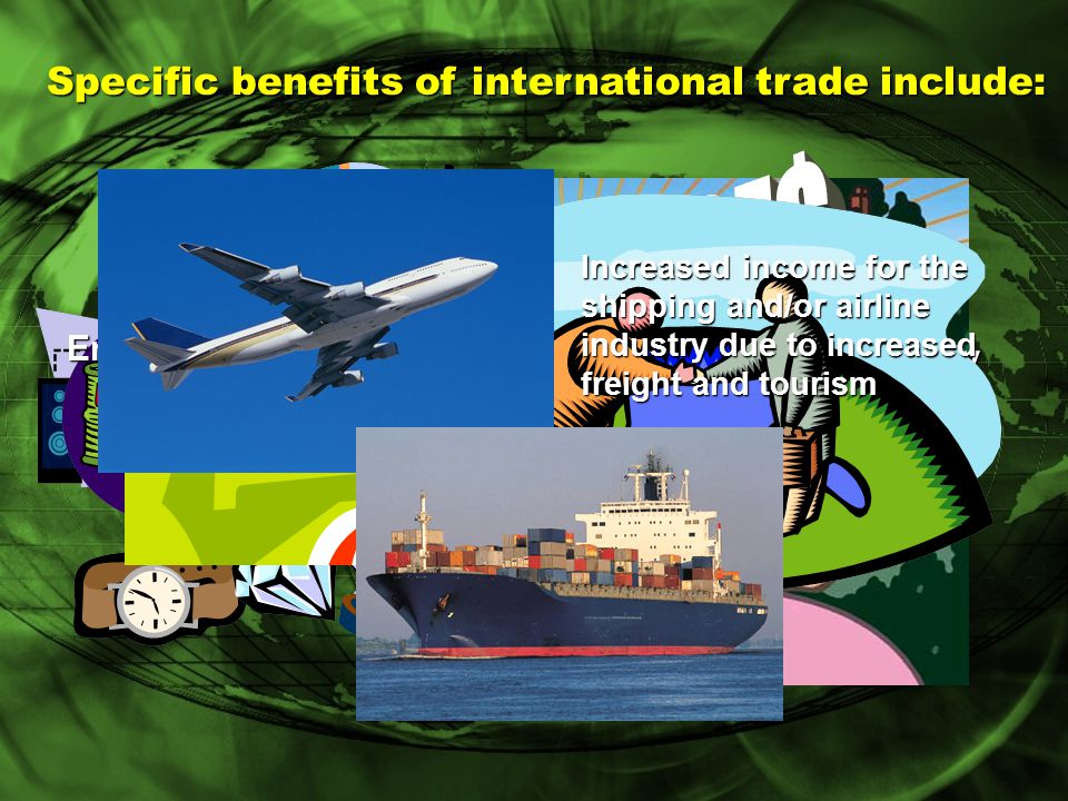 Types of Trade Advantages Comparative advantage occurs when a country can produce a product at a more efficient level than other nations.