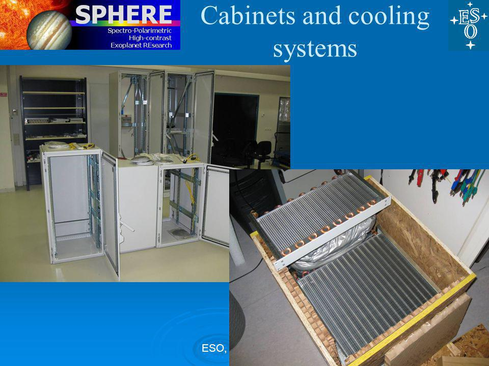 ESO, 27 Nov 09 Cabinets and cooling systems