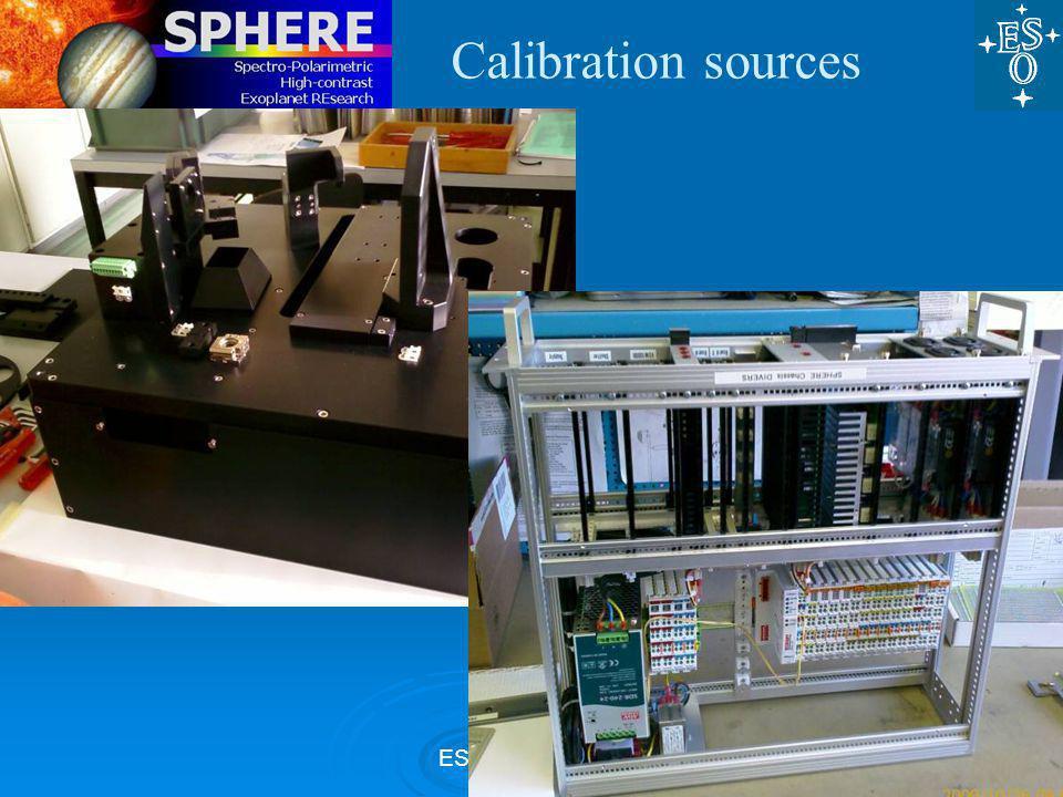 ESO, 27 Nov 09 Calibration sources