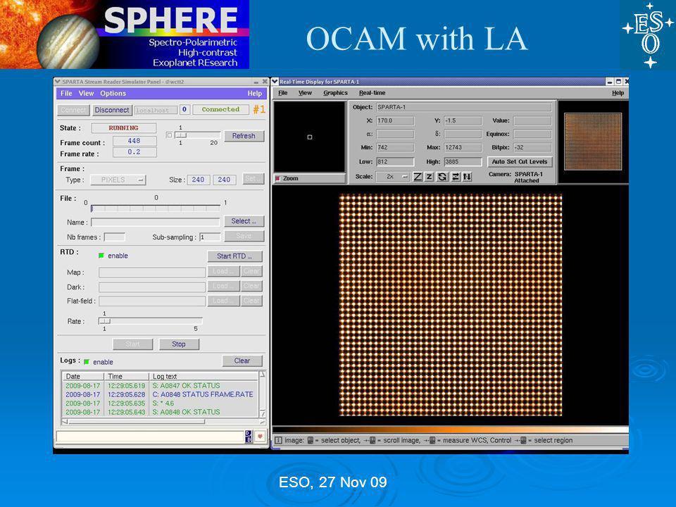 ESO, 27 Nov 09 OCAM with LA
