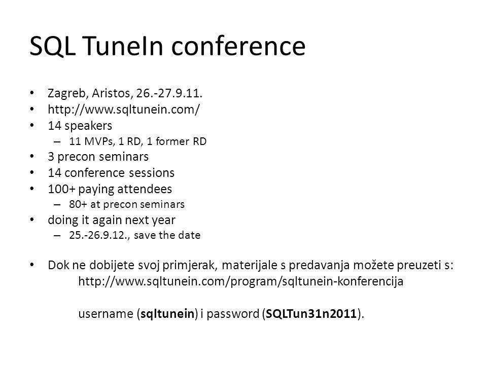 SQL TuneIn conference Zagreb, Aristos, 26.-27.9.11.
