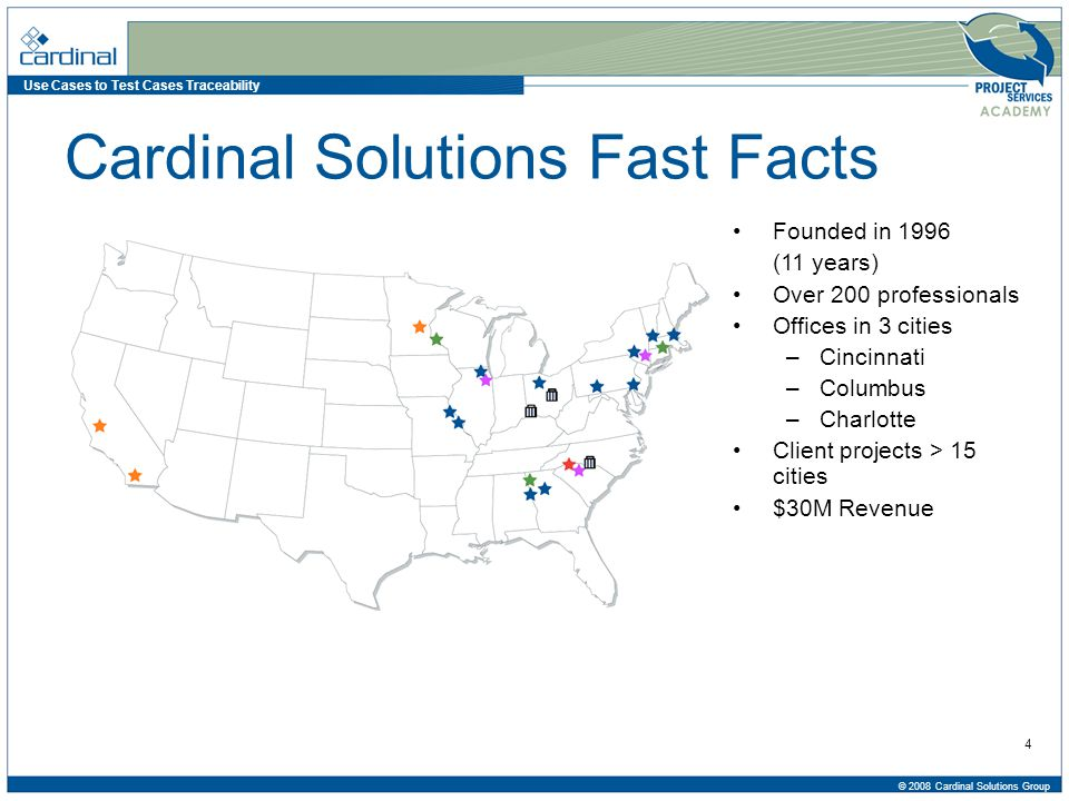 Use Cases to Test Cases Traceability © 2008 Cardinal Solutions Group 35 Questions Q&A