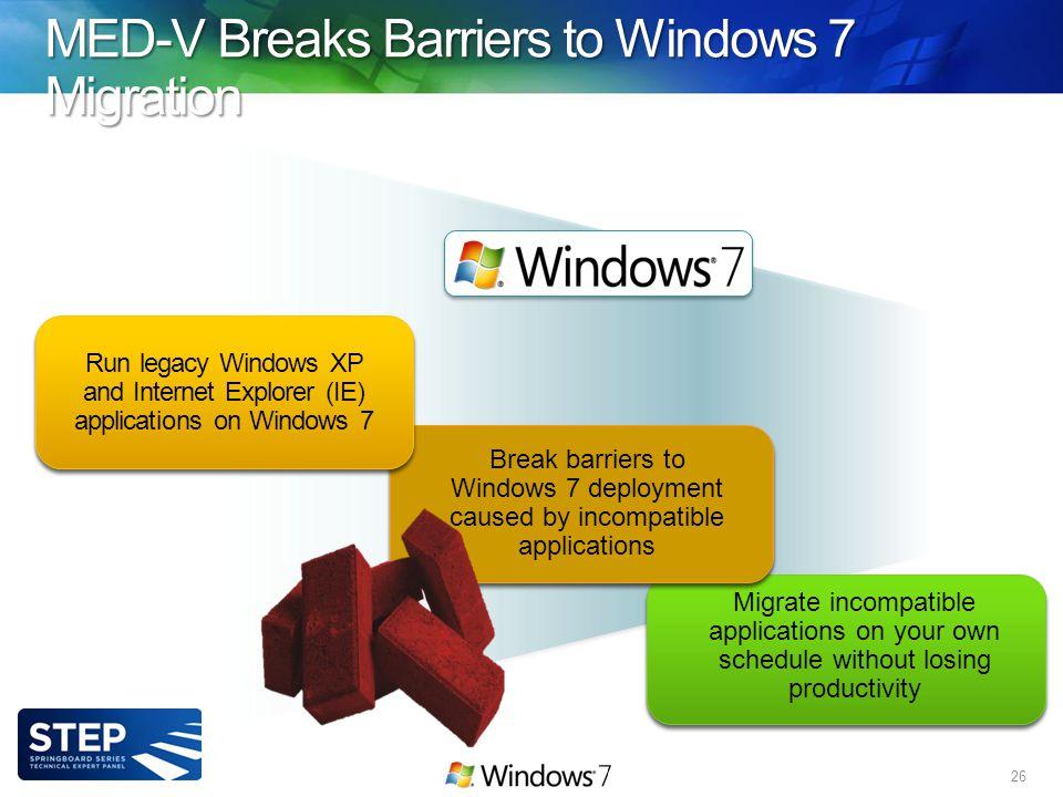 MED-V Breaks Barriers to Windows 7 Migration 26