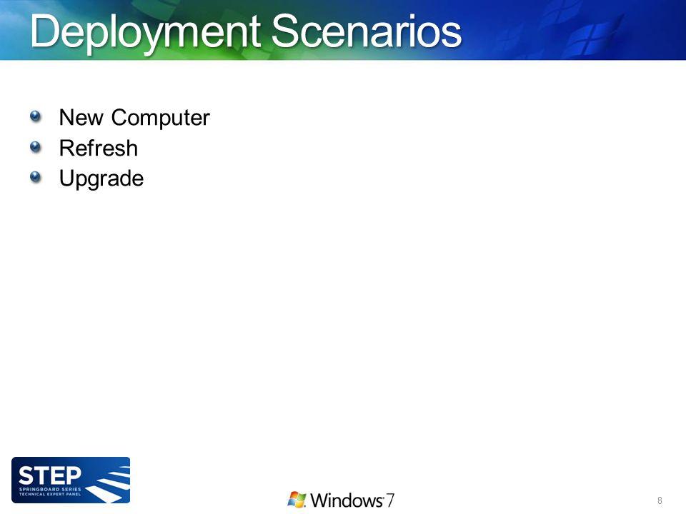 Deployment Scenarios New Computer Refresh Upgrade 8