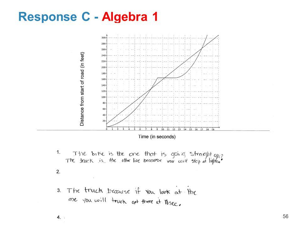 Response C - Algebra 1 56