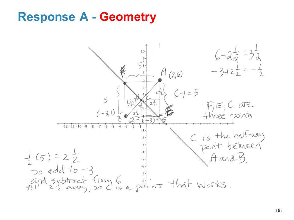 Response A - Geometry 65