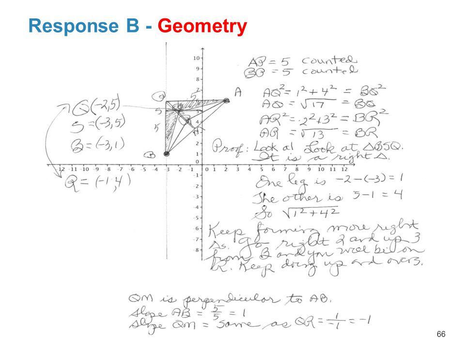 Response B - Geometry 66