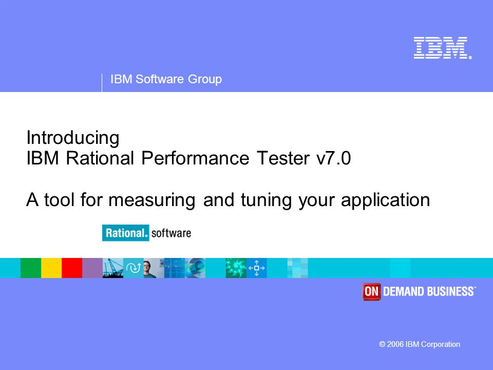 IBM Software Group | Rational software 32 Performance Tester Migration  Migration:  Tests are automatically upgraded upon first access by version 7.0 client  Note: Upgraded tests are not usable by 6.x clients  Version 6.x assets can be opened by 7.0 clients with no updates, but new features are not fully available