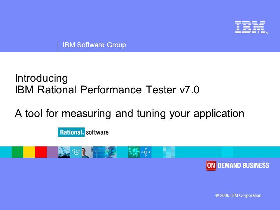 IBM Software Group | Rational software 2 Agenda  Rational Performance Tester Overview  Demonstration