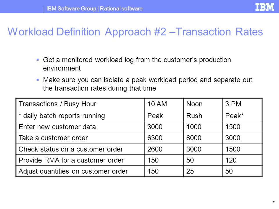 IBM Software Group | Rational software 10 Equipment  Use a powerful workstation for your console (2GB main memory)  Use an array of identical servers as driver systems (Blade Center)  Plan on 10-20% spare driver capacity  Provide adequate network bandwidth between drivers and system under test A maze of twisty little passages…