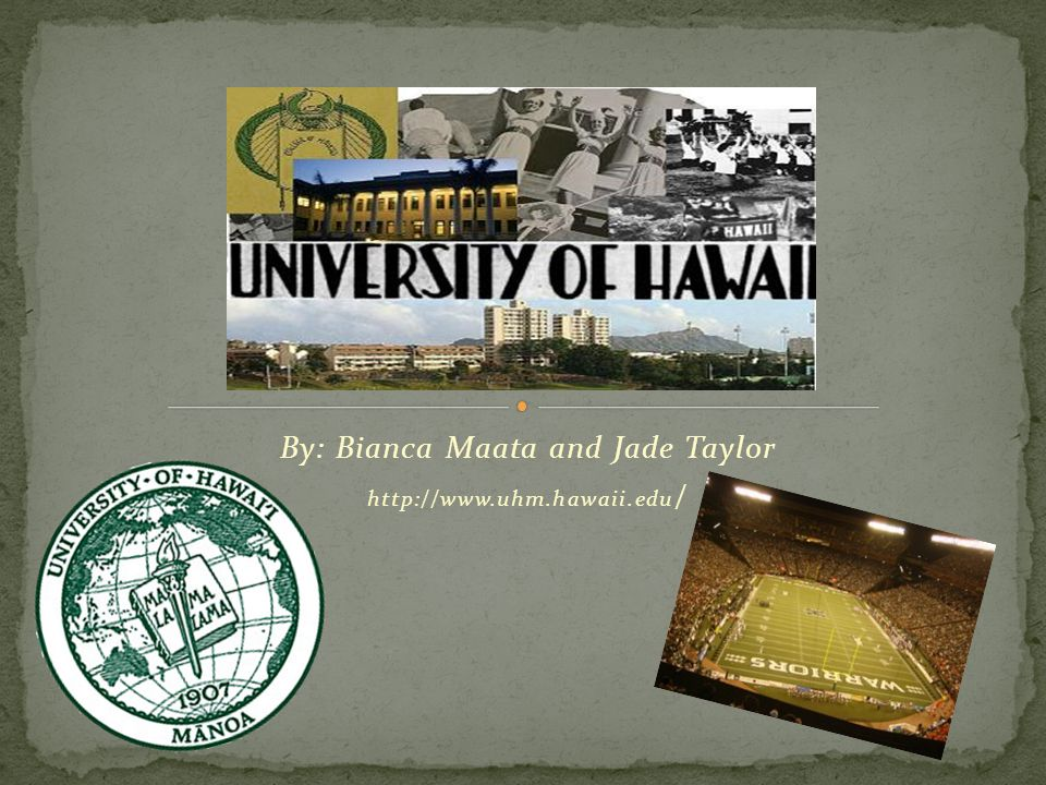 Campus Urban setting Very large city (over 500,000) Commuter campus 3 miles from downtown Hawaii 320 acres Colleges: 9 ; Schools: 9