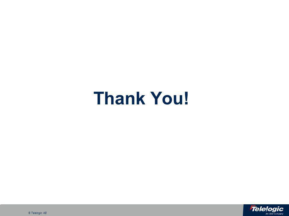 a © Telelogic AB Thank You!
