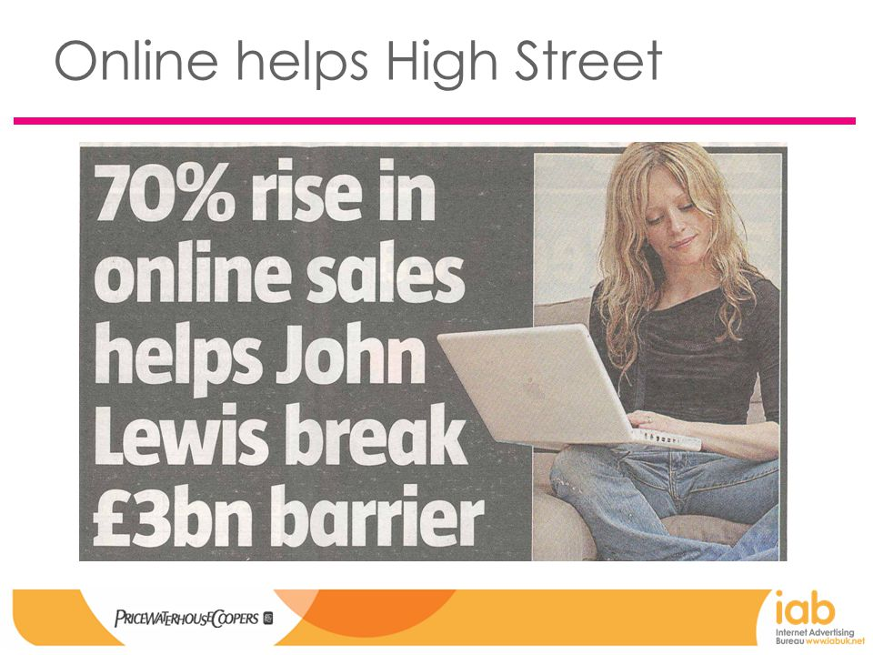 Online helps High Street
