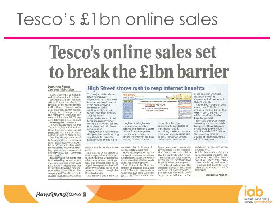 Tesco's £1bn online sales
