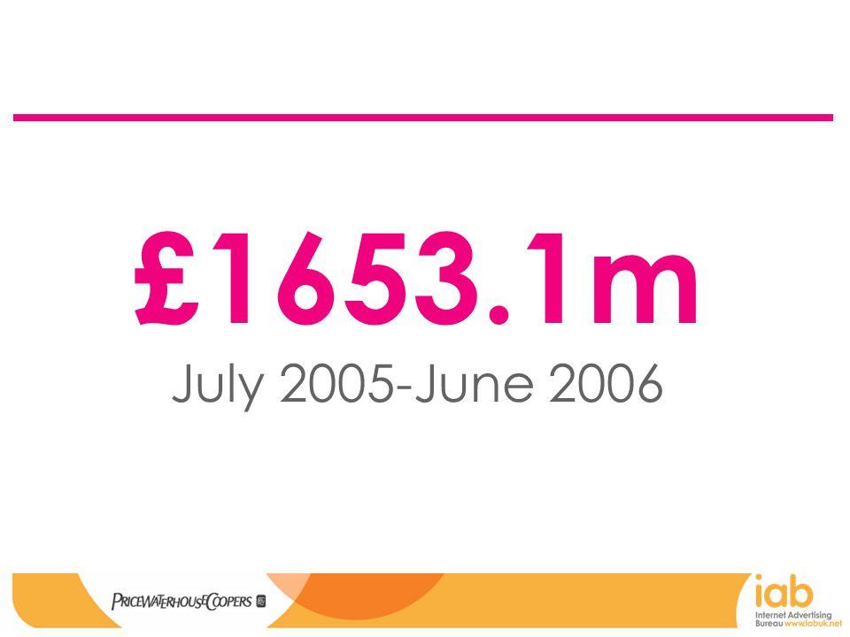 £1653.1m July 2005-June 2006