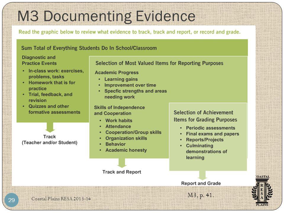 M3 Documenting Evidence Coastal Plains RESA 2013-14 29 M3, p. 41.