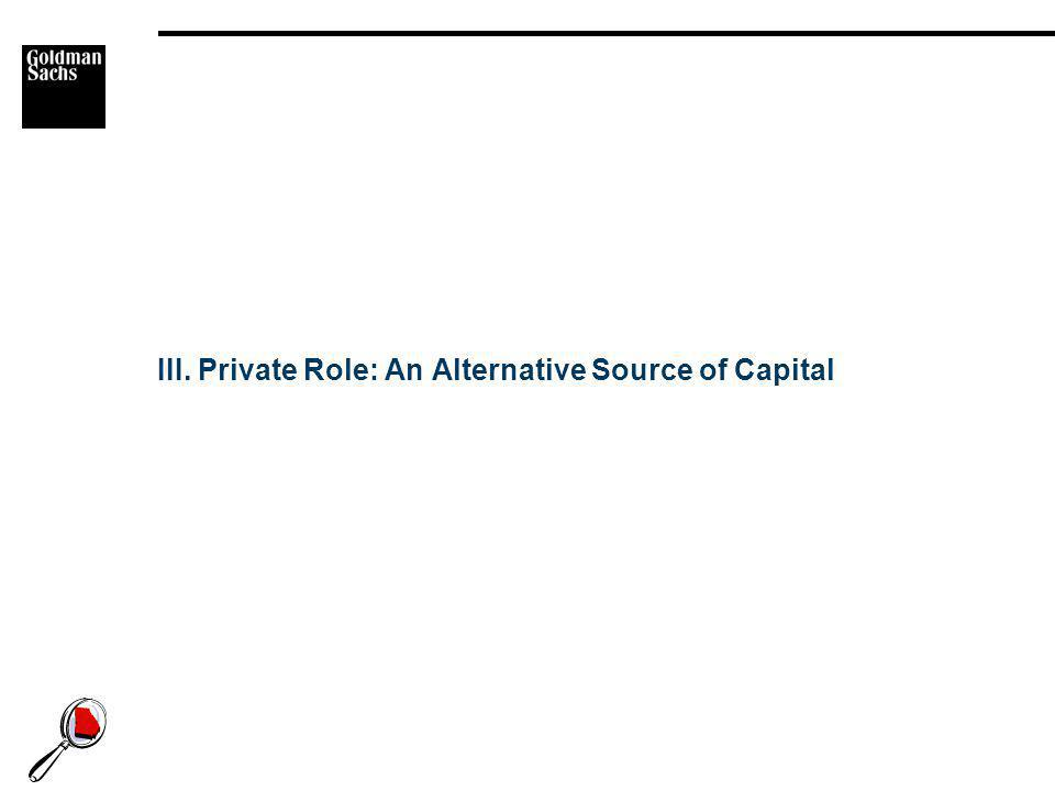 III. Private Role: An Alternative Source of Capital