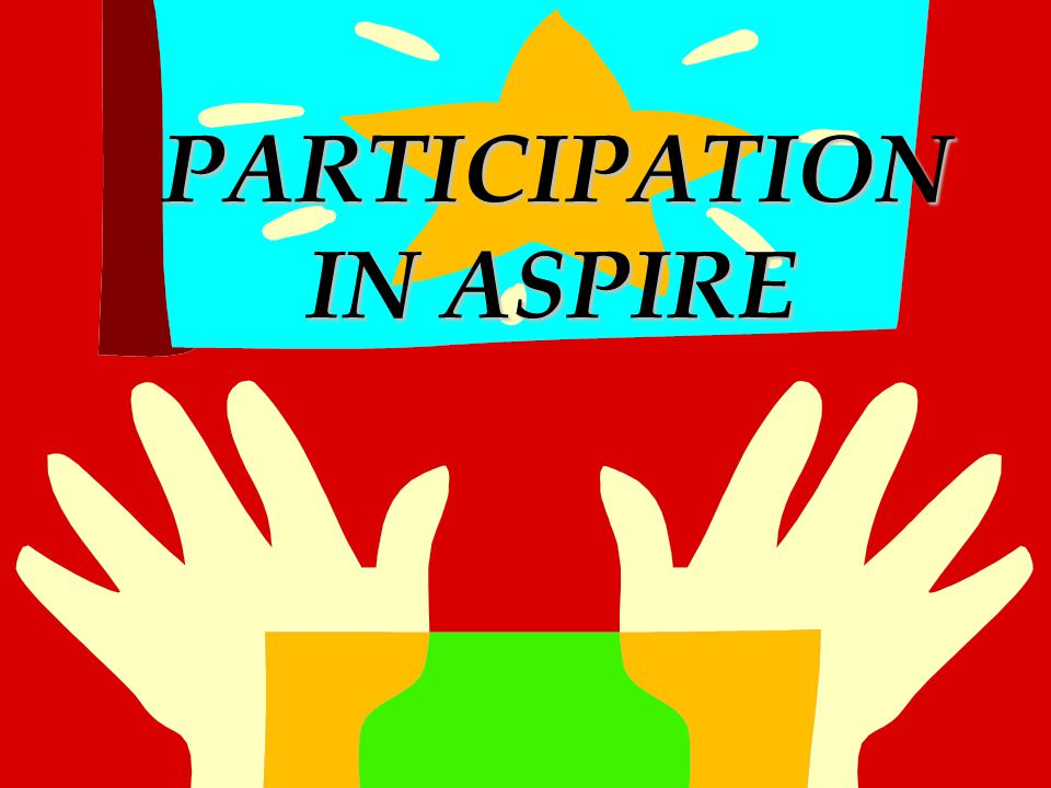 PARTICIPATION IN ASPIRE PARTICIPATION IN ASPIRE