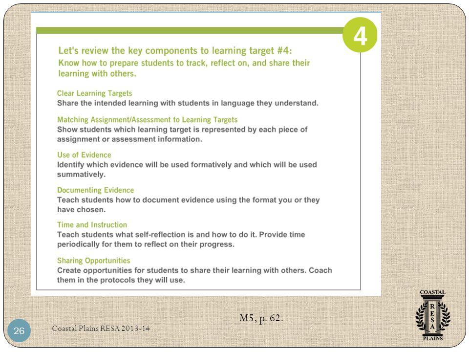 Coastal Plains RESA 2013-14 26 M5, p. 62.