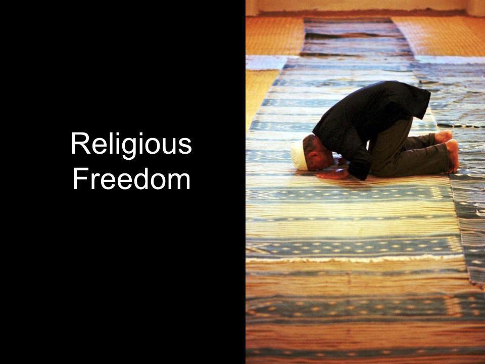 Three Classic Positions Freedom of Religion – Judeo-Christian Theism Freedom from Religion – Secularism Tyranny of Religion – Jihadism