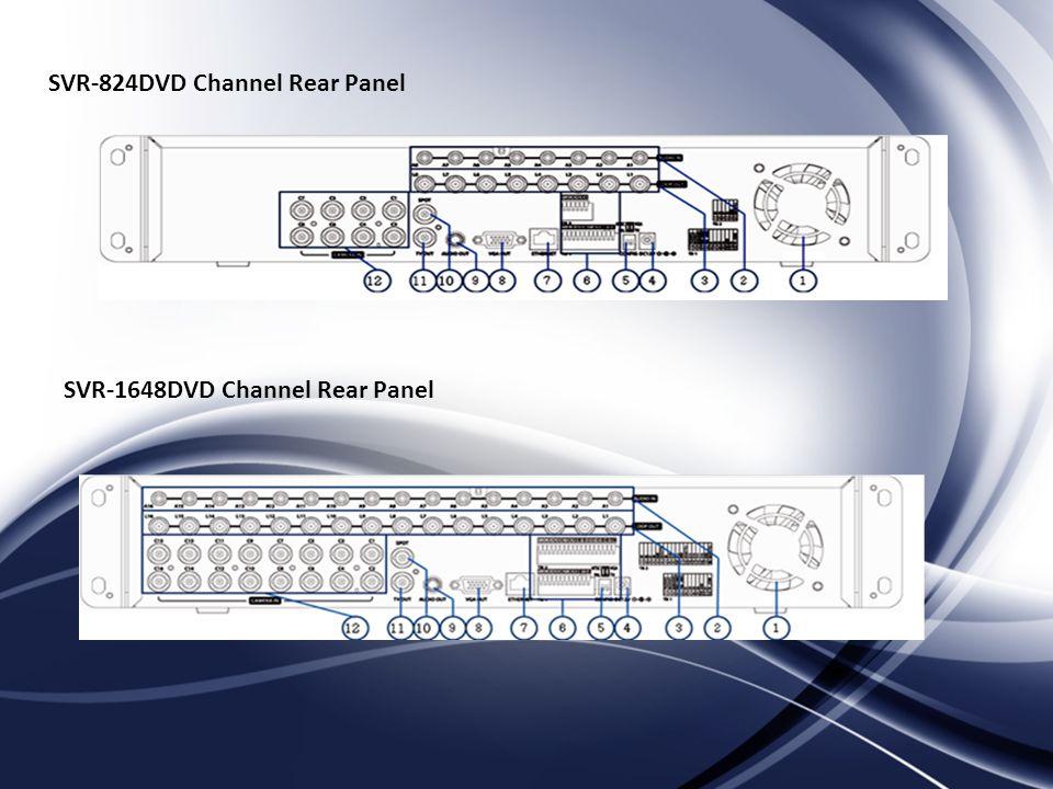 SVR-824DVD Channel Rear Panel SVR-1648DVD Channel Rear Panel