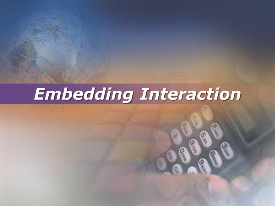 Embedding Interaction