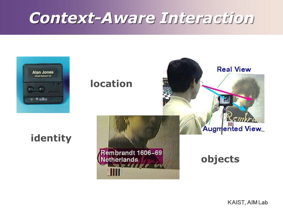 KAIST, AIM Lab Context-Aware Interaction location identity objects