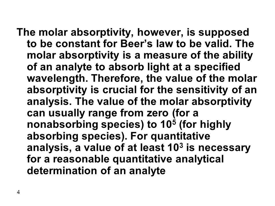 55 Derivative UV-Vis Absorption Spectroscopy In derivative spectroscopy,  A/  is plotted against the wavelength.