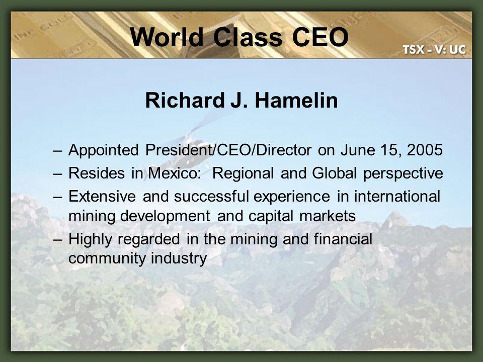 Mexico Office: Torreon Coahuila, Mexico Richard J.