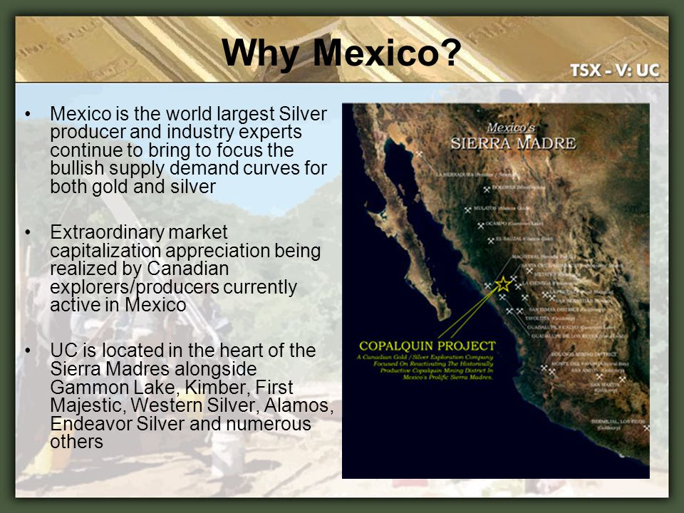 Mexico is the world largest Silver producer and industry experts continue to bring to focus the bullish supply demand curves for both gold and silver