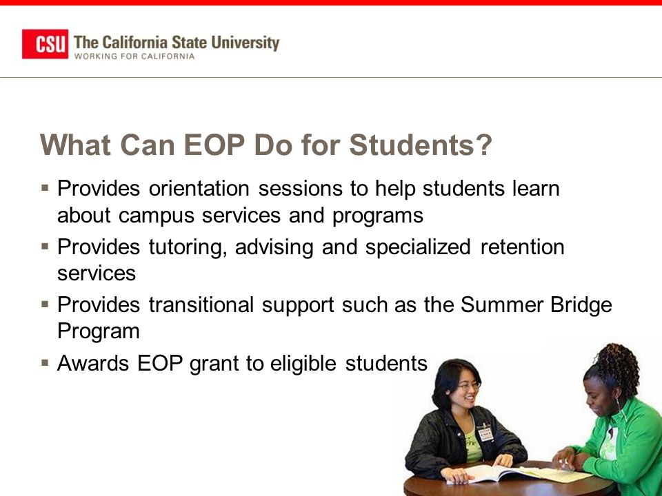 What Can EOP Do for Students.