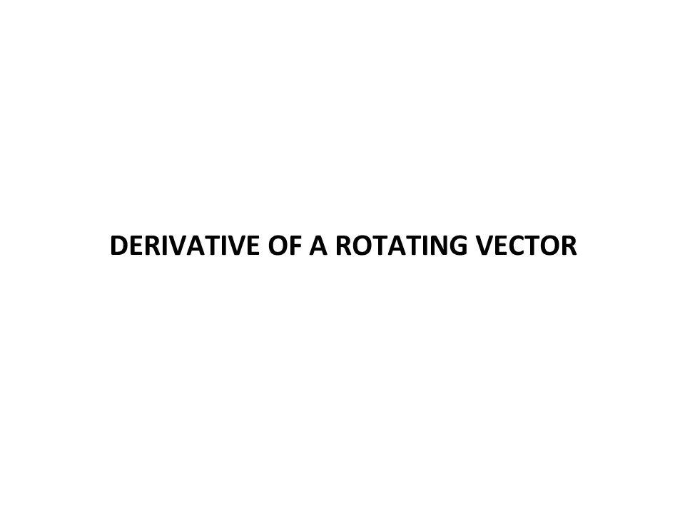 DERIVATIVE OF A ROTATING VECTOR