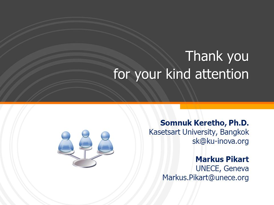 Thank you for your kind attention Somnuk Keretho, Ph.D.