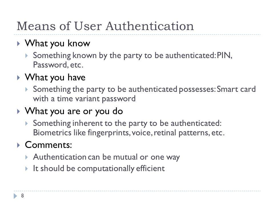 Public Key Distribution Using Certificates 39 Alice Bob CA (1) ID A ||KU A (2) C(A) = sig KRAuth (T 1 ||ID A ||KU A ) (3) C(A) (6) C(B) (4)ID B ||KU B (5) C(B) = .
