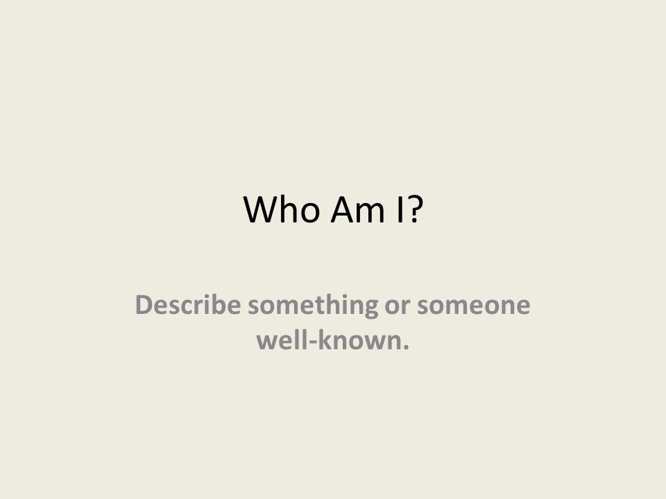 It can be a Person! Celebrity Sports figure Musician Criminal Politician Etc