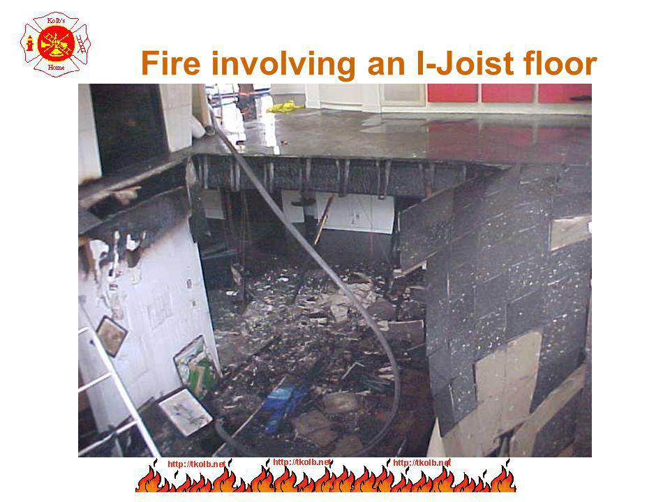 Fire involving an I-Joist floor