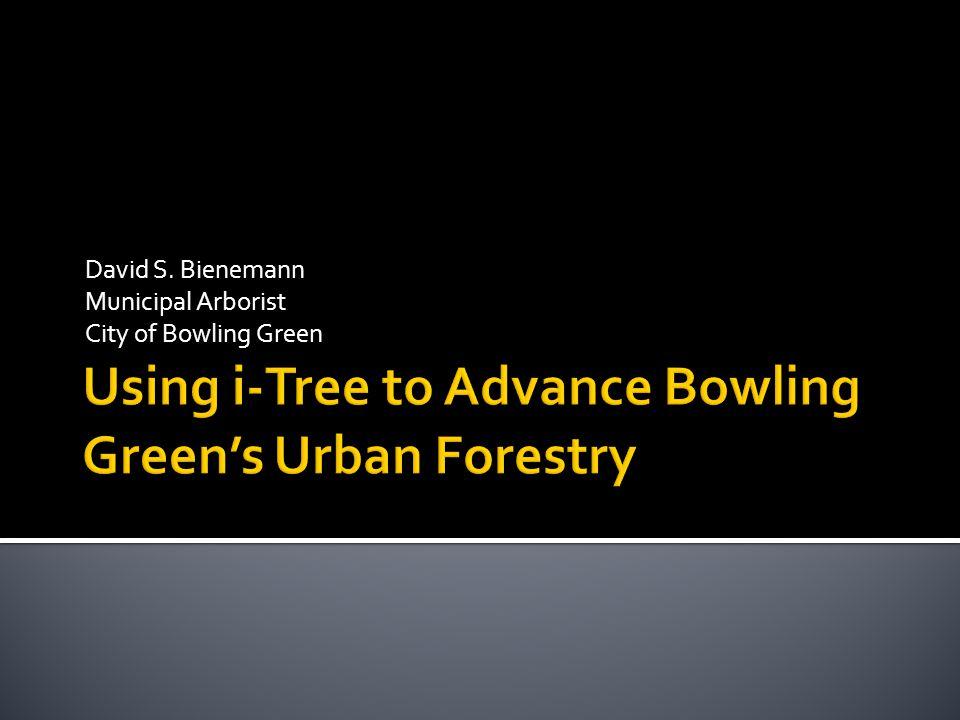 David S. Bienemann Municipal Arborist City of Bowling Green