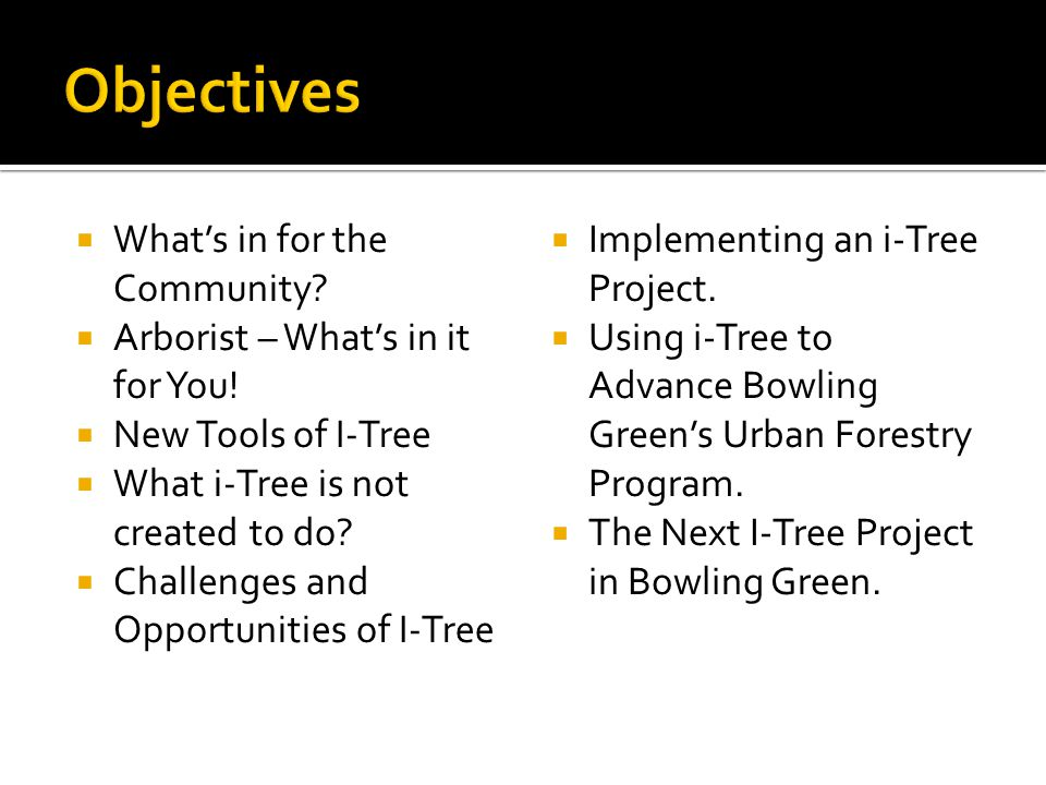 MEETINGS & TRAINING  Offer free public educational seminars on urban forestry.