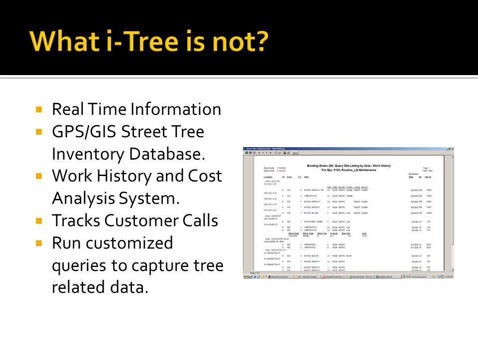 THE GOOD OF I-TREE  Management Recommendations for urban forestry program.